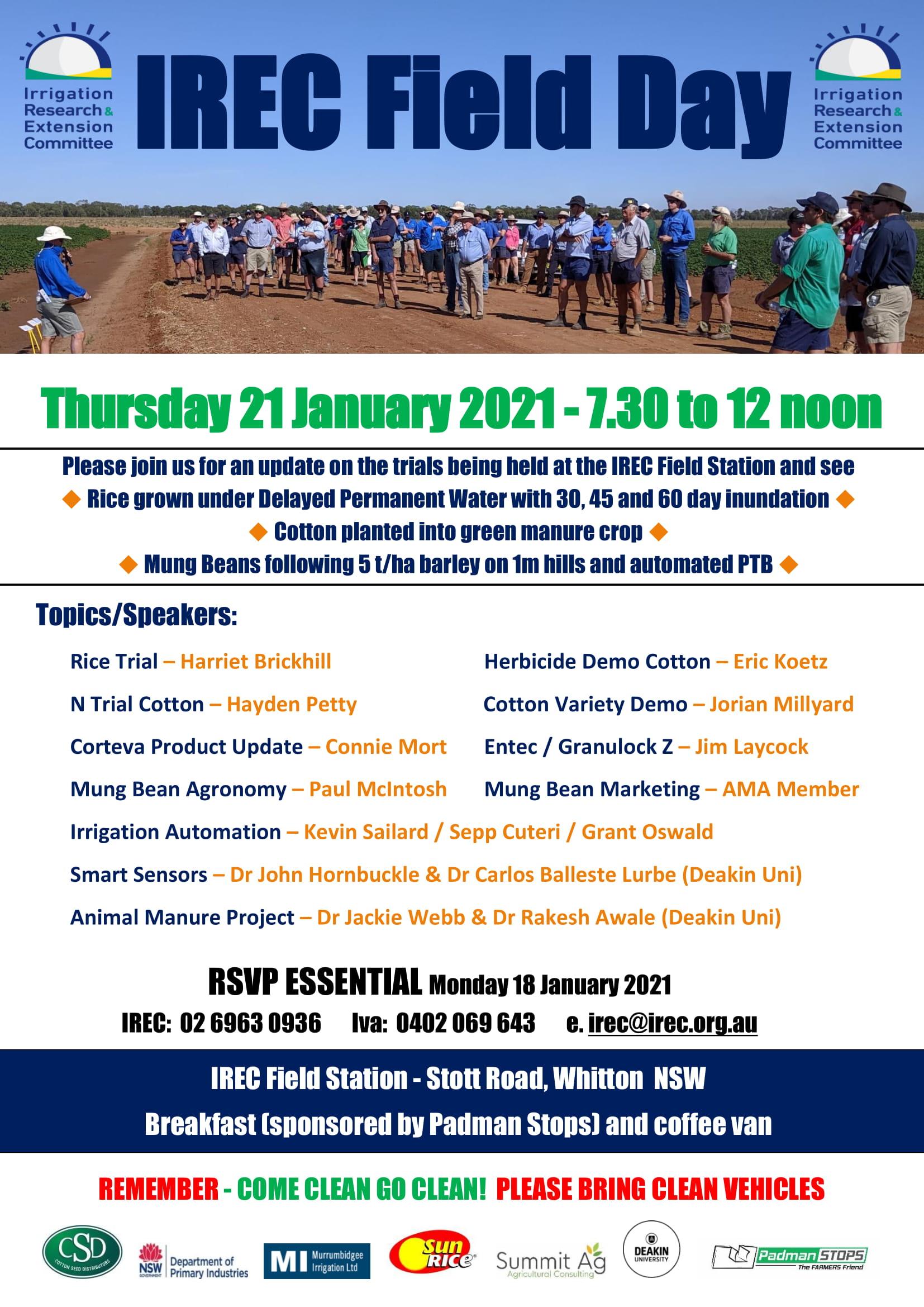 2021 IREC Field Day Flier 21st January 1
